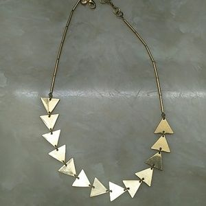 J crew Gold triangles necklace